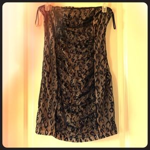 Strapless lace overlay Forever 21 dress